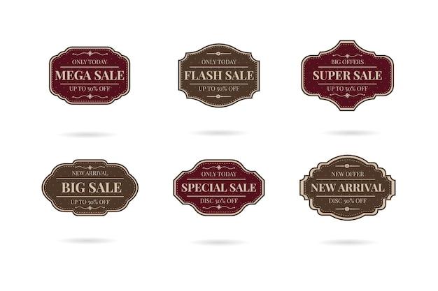 Conjunto de emblemas de logotipo retrô vintage de venda