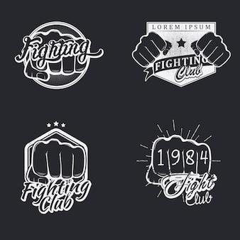 Conjunto de emblemas de luta