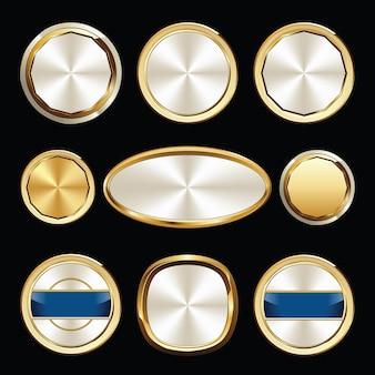 Conjunto de emblemas de luxo. conjunto de selos e emblemas.