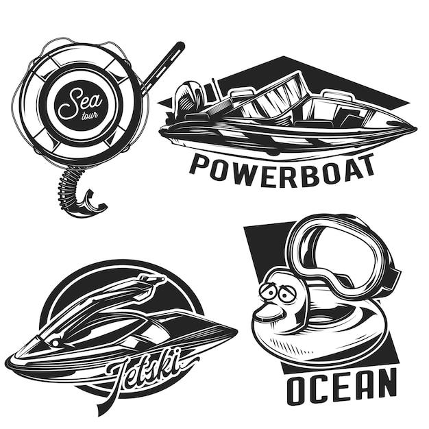 Conjunto de emblemas de mergulho