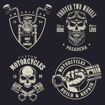 Conjunto de emblemas de moto personalizados