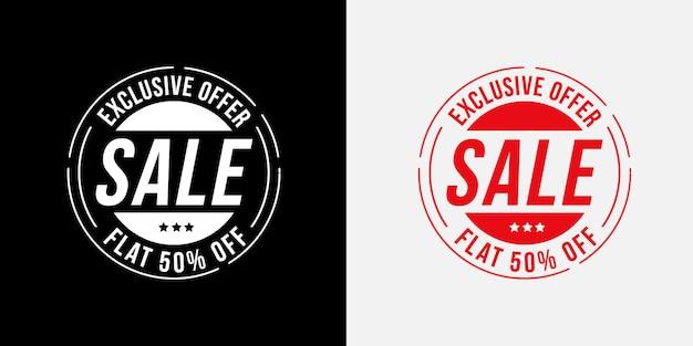 Conjunto de emblemas de oferta de venda exclusiva