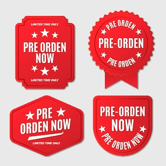 Conjunto de emblemas de pré-encomenda