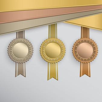 Conjunto de emblemas de prêmio