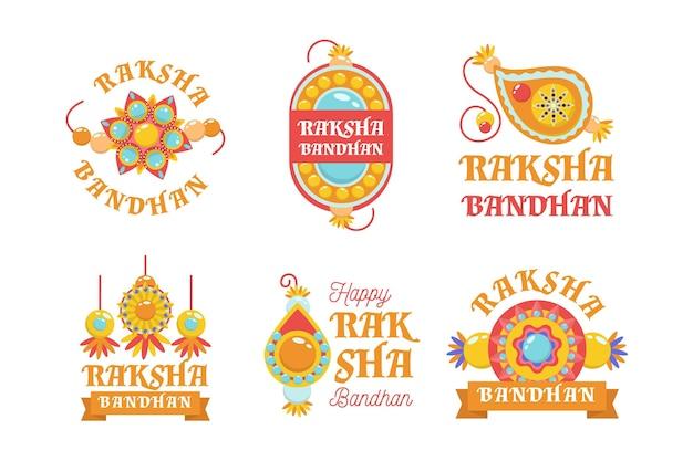 Conjunto de emblemas de raksha bandhan