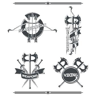 Conjunto de emblemas de viking