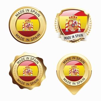 Conjunto de emblemas do made in spain