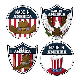 Conjunto de emblemas dos eua