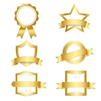 Conjunto de emblemas e banners vector