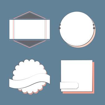 Conjunto de emblemas e emblemas