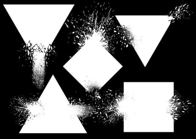 Conjunto de emblemas explosivos
