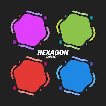 Conjunto de emblemas geométricos. design moderno e minimalista. vetor eps10.