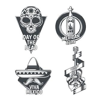 Conjunto de emblemas mexicanos