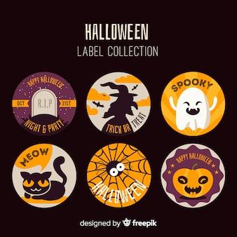 Conjunto de emblemas modernos de halloween
