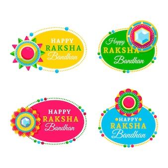 Conjunto de emblemas raksha bandhan