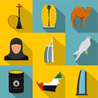 Conjunto de emirados árabes unidos, estilo simples