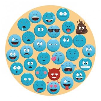 Conjunto de emoticons de bate-papo