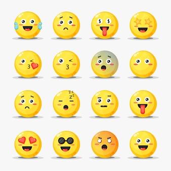 Conjunto de emoticons de desenho animado
