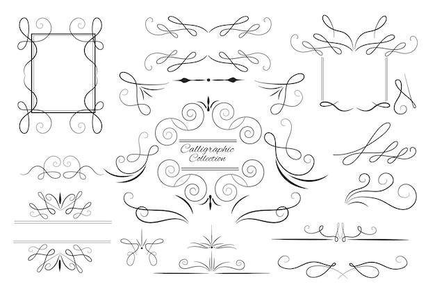 Conjunto de enfeites desenhados à mão