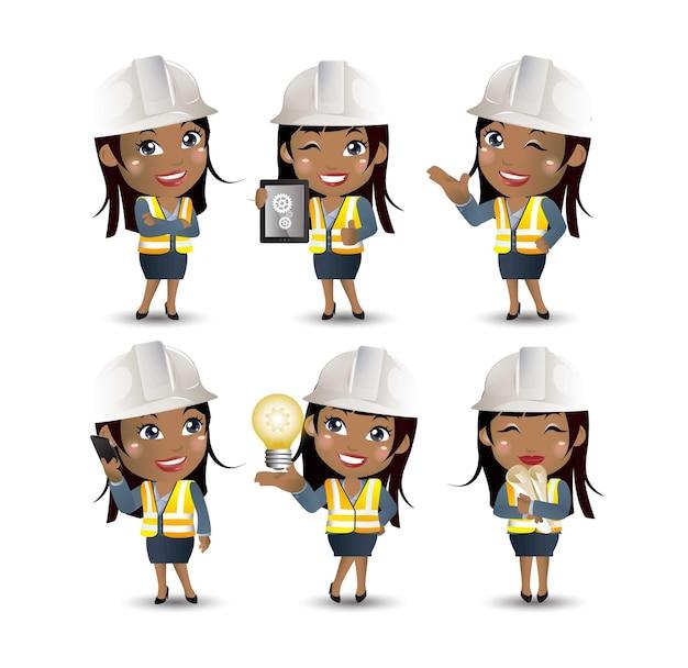 Conjunto de engenheiro, trabalhador
