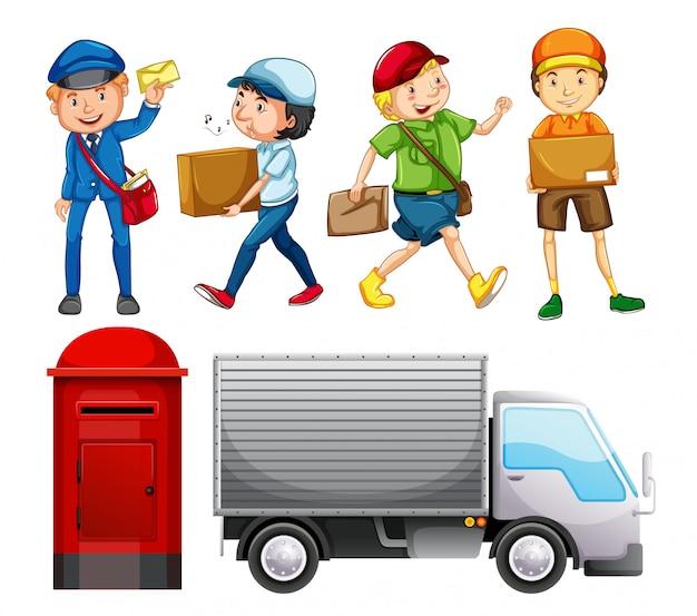Conjunto de entrega de correio