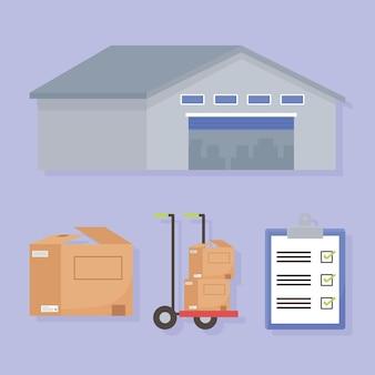 Conjunto de entrega logística
