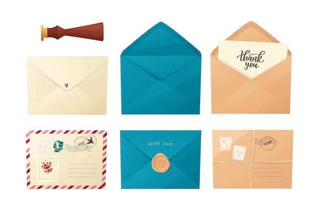 Conjunto de envelopes diferentes.