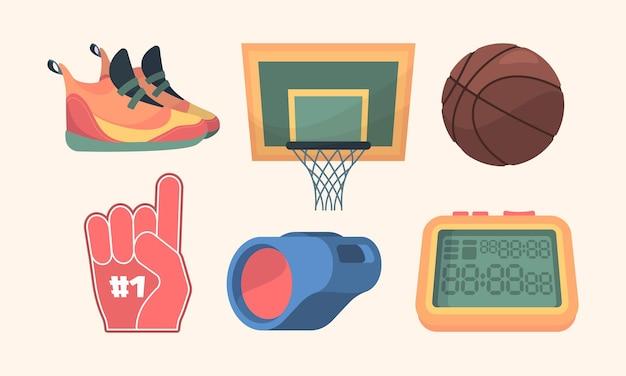 Conjunto de equipamento de basquete