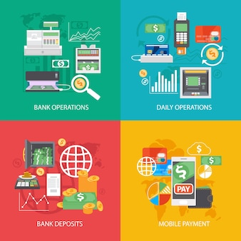 Conjunto de equipamentos bancários e composições de pagamentos