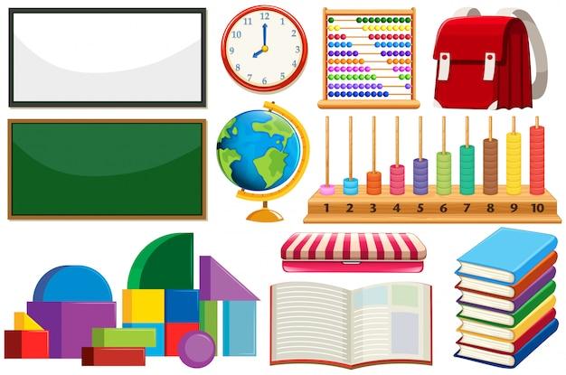 Conjunto de equipamentos de aprendizagem