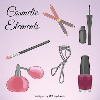 Conjunto de equipamentos de beleza