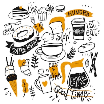 Conjunto de equipamentos de café