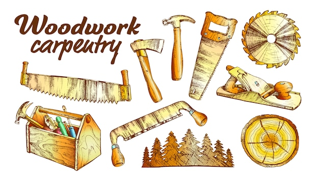 Conjunto de equipamentos de coleta de carpintaria de marcenaria