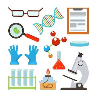 Conjunto de equipamentos de laboratório