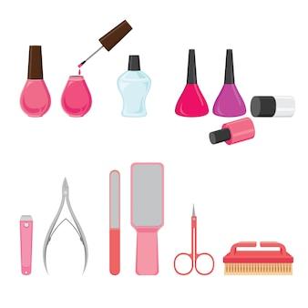 Conjunto de equipamentos de manicure e pedicure