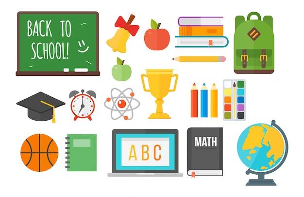 Conjunto de equipamentos de material escolar