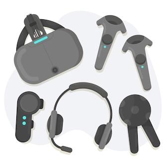 Conjunto de equipamentos de realidade virtual