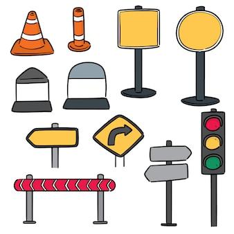 Conjunto de equipamentos de tráfego