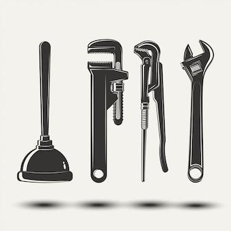 Conjunto de equipamentos para encanadores