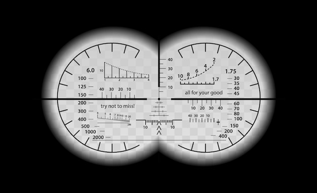 Conjunto de escala binocular louco