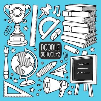 Conjunto de escola doodle