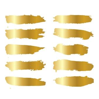 Conjunto de escova de mão dourada