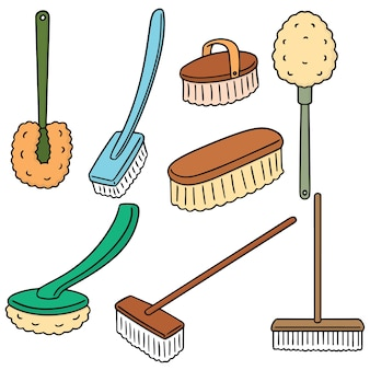 Conjunto de escova de vaso sanitário