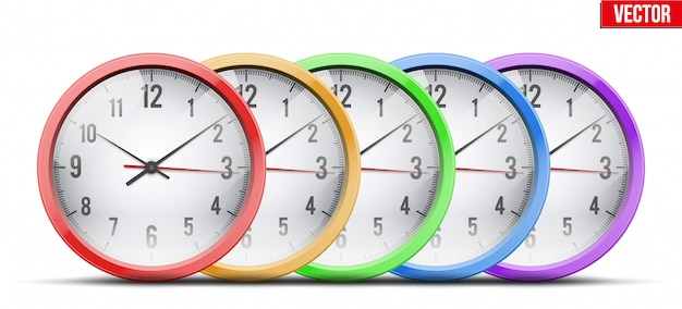 Conjunto de escritório relógio de parede