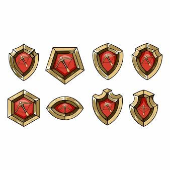 Conjunto de escudo de jogos
