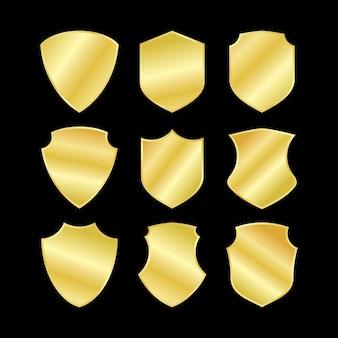 Conjunto de escudo de ouro