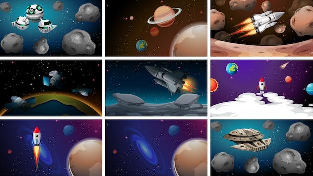 Conjunto de espaço s