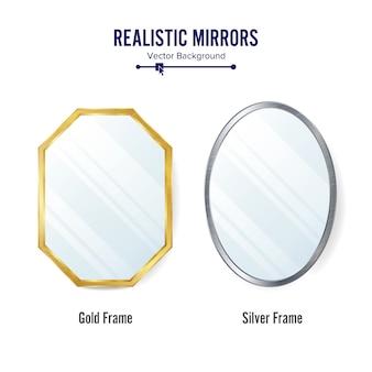Conjunto de espelhos realistas