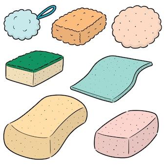Conjunto de esponja