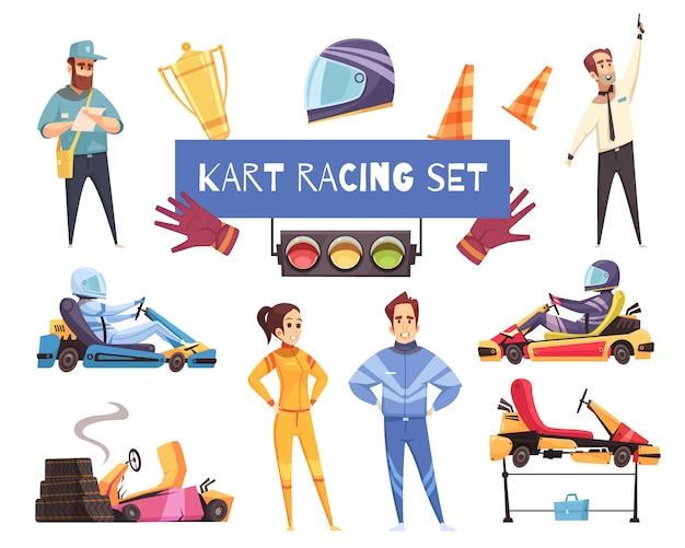 Conjunto de esporte de kart